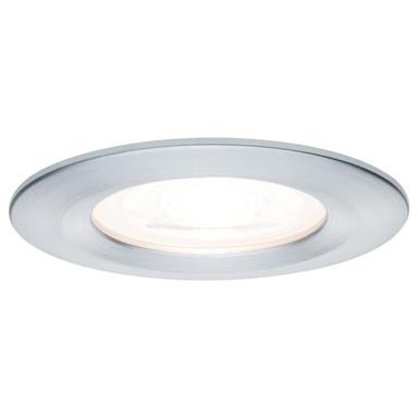 Premium LED Einbauleuchte Nova, rund, dimmbar, Aluminium, Zink, starr, alu gedreht, GU10 Fassung