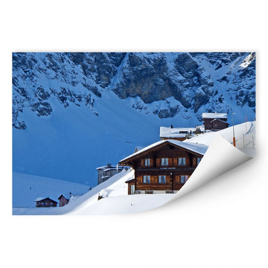 Wallprint Ferienhütte in den Schweizer Alpen
