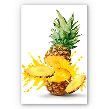 Wandbild Splashing Pineapple