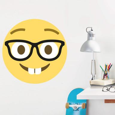 Wandtattoo Emoji Nerd Face