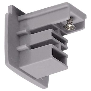 3-Phasen S-Track, Aufbauschiene, Endkappe, silber-grau
