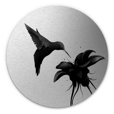 Alu-Dibond-Silbereffekt Ireland - Chorum - Kolibri - Rund