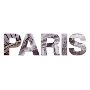 Dekobuchstaben Paris + 8 Klebepads