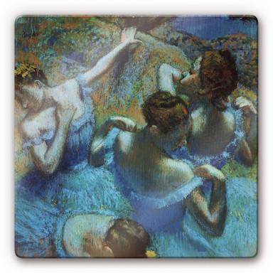 Glasbild Degas - Drei Tänzerinnen mit grünen Korsagen