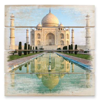 Holzbild Taj Mahal