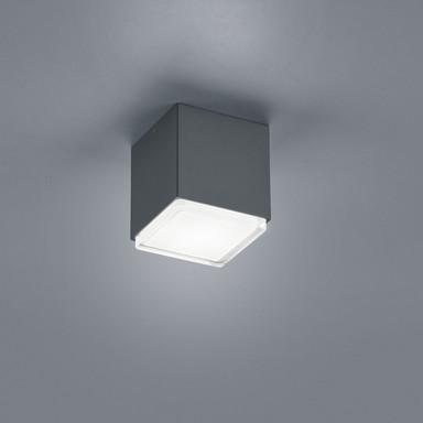 LED Deckenleuchte Isy in Graphit und Transparent-satiniert 10W 700lm IP54