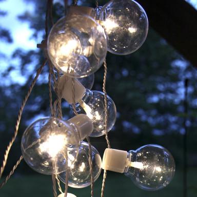 LED Garten Lichterkette Partaj, weiss, transparent, 4500mm