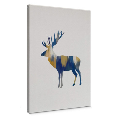 Leinwandbild Orara Studio - Moose Blue and Yellow