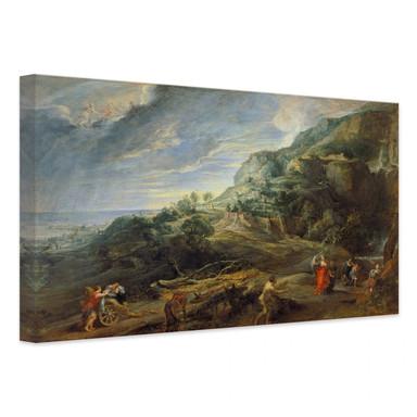 Leinwandbild Rubens - Odysseus auf der Insel Feaci