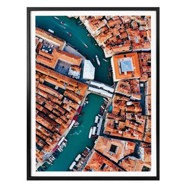 Poster Colombo - Venedig von oben - Hochformat