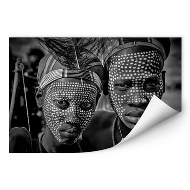 Wallprint Kuesta - Porträt des Abore-Stammes