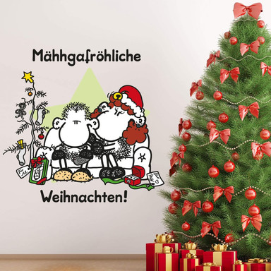 Wandsticker sheepworld Mähhgafröhliche Weihnachten!