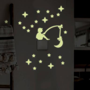 Wandtattoo Leuchtsterne Lichtschaltersticker Himmelsangler