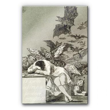 Acrylglasbild de Goya - Der Schlaf der Vernunft gebiert Ungeheuer