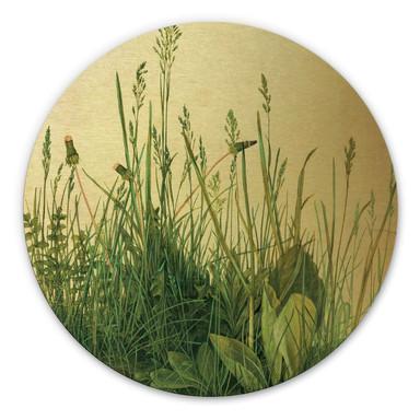 Alu-Dibond-Goldeffekt Dürer - Das grosse Rasenstück - Rund