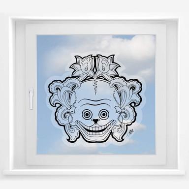 Fensterbild Miami Ink Mexikanische Totenmaske 2