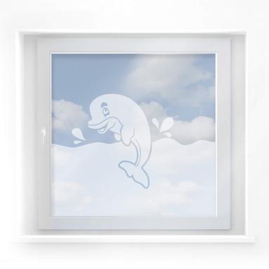 Fensterdekor Delphin im Meer