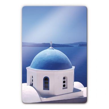 Glasbild Sommer in Griechenland