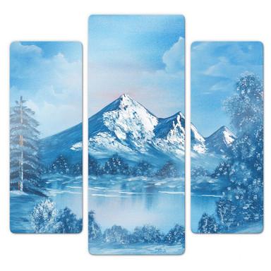 Glasbild Toetzke - Alpsee in den Bergen (3-teilig)