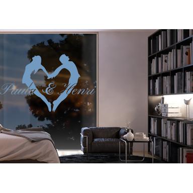 Glasdekor Wunschtext Liebespaar