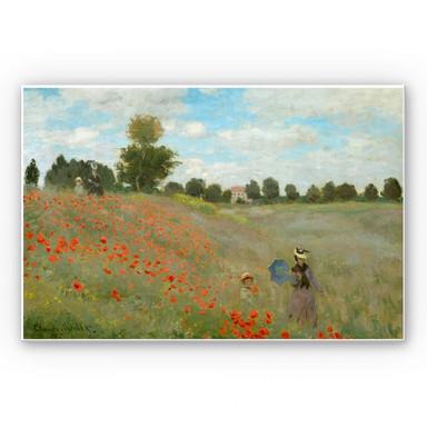 Hartschaumbild Monet - Mohnfeld bei Argenteuil