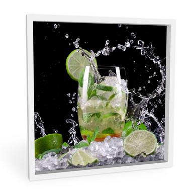 Hartschaumbild Splashing Mojito - quadratisch