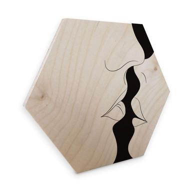 Hexagon - Holz Birke-Furnier Nordic Creators - White Kiss