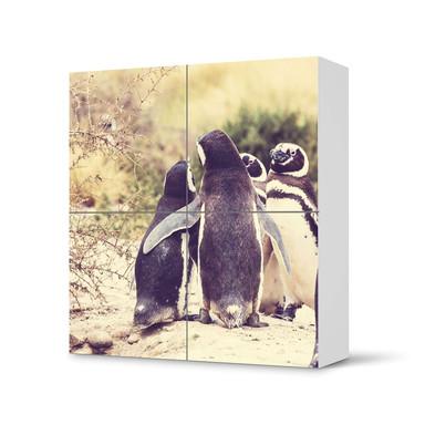 Klebefolie IKEA Besta Schrank 4 Türen - Pingu Friendship- Bild 1