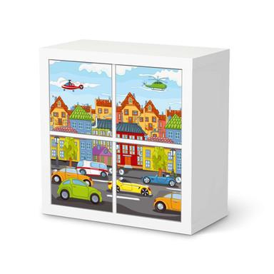 Klebefolie IKEA Kallax Regal 4 Türen - City Life