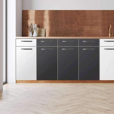 Küchenfolie - Unterschrank 120cm Breite - Grau Dark
