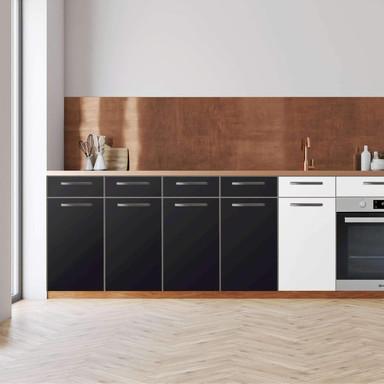 Küchenfolie - Unterschrank 160cm Breite - Schwarz