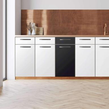 Küchenfolie - Unterschrank 40cm Breite - Schwarz