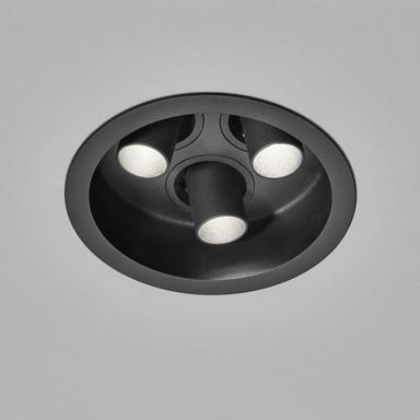 LED Deckeneinbauleuchte Run in Schwarz 3x 8W 885lm