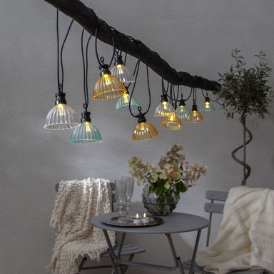 LED Party-Kette Circus Shade in Mehrfarbig 12-flammig IP44