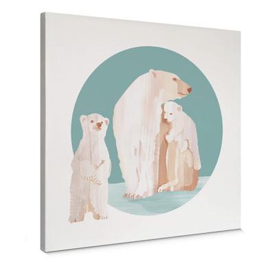 Leinwandbild Goed Blauw - Die Eisbärenfamilie
