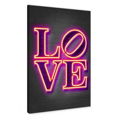 Leinwandbild Mielu - Love