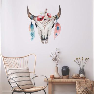 Wandtattoo Kvilis - Bohemian Skull