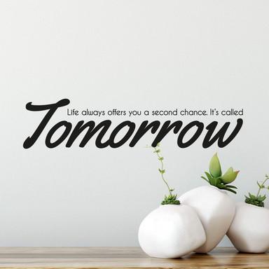 Wandtattoo Tomorrow