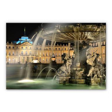 Acrylglasbild Stuttgarter Schlossbrunnen
