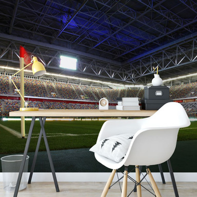 Fototapete - Fortuna Düsseldorf Stadion Eckfahne - 384x260cm - Bild 1