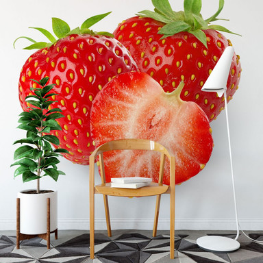 Fototapete Strawberries - 240x260cm - Bild 1
