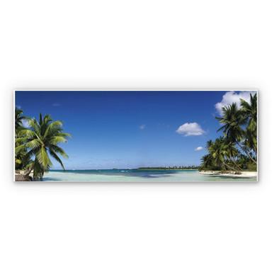 Hartschaumbild Carribean Flair - Panorama