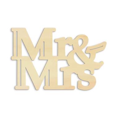 Holz-Anhänger Mr&Mrs