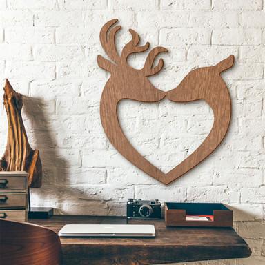 Holzkunst Mahagoni - Hirsch Herz