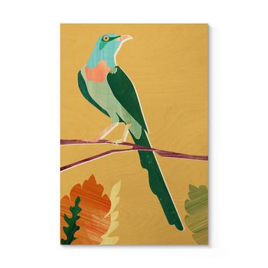 Holzposter Goed Blauw - Tropischer Vogel