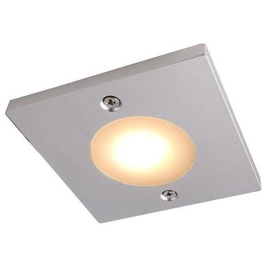 LED Möbelaufbauleuchte Fine Square in Silber-Matt 12V 3W
