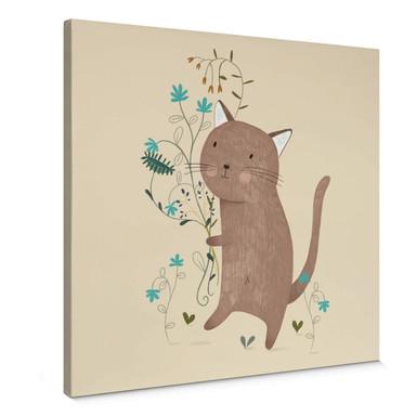 Leinwandbild Loske - Kleine Katze