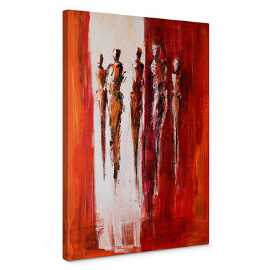 Leinwandbild Schüssler - Fünf Figuren in Rot