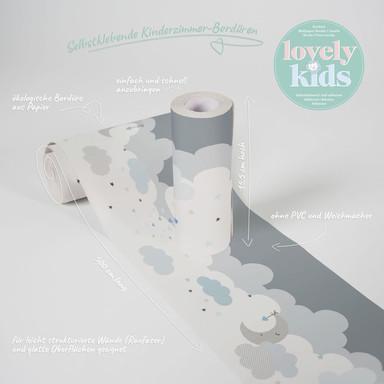Lovely Kids selbstklebende Kinderzimmer Bordüre Dreamy Sky mit süssen Wolken