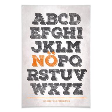 Poster Alphabet für Pessimisten